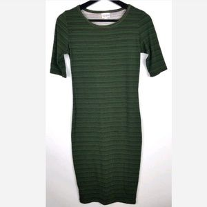 LuLaRoe Julia Dress Striped Green Bodycon